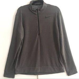 Nike Grey Half Zip Dri Fit pullover size L